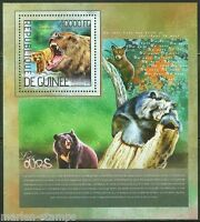 GUINEA  2014 BEARS  SOUVENIR SHEET MINT NH