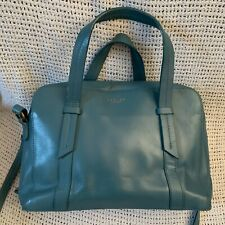 Lovely *RADLEY* Malton Teal Leather Tote Ziptop Cross Body Shoulder Bag