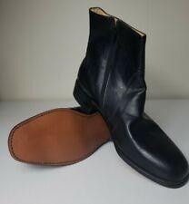 Retro Regal Vintage Motorcycle Boot Rockabilly Black Leather Zip Ankle11.5 D/B