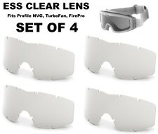 SET OF 4 New ESS Profile NVG Goggle, FirePro, TurboFan - Replacement Lens -Clear