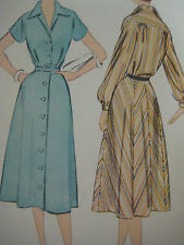Vintage 1950's McCall BUTTONED FRONT ONE-PIECE DRESS Sewing Pattern Women Sz18.5