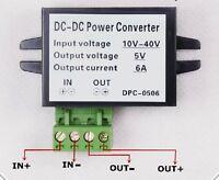DC Converter 10-40V 12v 24v to 5v 6A step down Car Supply Power Led Driver solar