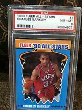 1990 Fleer All-Stars #1 Charles Barkley PSA ** 2 card lot ** SHARP ** RBB-5652