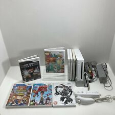 Nintendo Wii Console Bundle Inc Wii Remote & Nunchuck, All Cables & 8 Games
