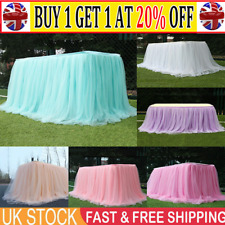 Tutu Tulle Table Skirt Tableware Table Cloth Cover Home Wedding Party Decor CWW