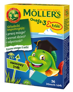 Moller's Omega-3 Jelly Fish Fruity Flavour Brain Immune System, FREE P&P