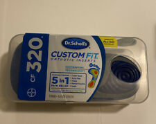 NEW - Dr.Scholls Custom Fit Orthotic Inserts CF320 Sealed One Pair Free Shipping