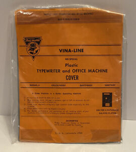 Vtg NEW Vina Line Plastic Typewriter And Office Machine Cover Gray IBM Selectric