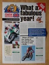 HONDA Motorcycle Racing Team orig c1993 UK Mkt publicity brochure broadsheet