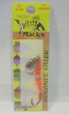Macks #4 Wedding Ring Kokanee Killer Nickel Red Fl. Orange Fishing Lure Glo Hook