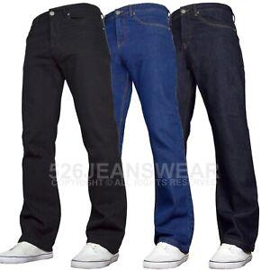 SK-1 Apparel Mens Regular Fit Wide Leg Bootcut Jeans All Sizes 30-48 Inch Waist