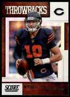 2019 SCORE THROWBACKS MITCHELL TRUBISKY CHICAGO BEARS #T-5 INSERT