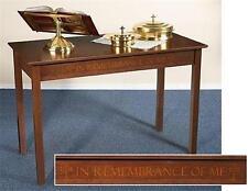 "MRT Solid Maple Silk-Screened Hardwood Church Chapel Altar Communion Table 48"""
