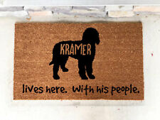 Personalized Custom Door Mat Goldendoodle Gift Present House Warming Dog Lover