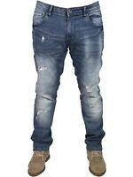 DML Raider Mens Slim Fit Jeans Cotton Denim Trousers Casual Pants 28-38