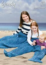 Wendy Family Mermaid Tails Super Chunky Yarn Knitting Pattern 6022