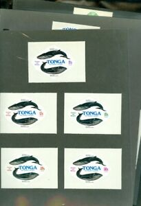 EDW1949SELL : TONGA 1977-78 Whale Issues Cplt. Very Fine, Mint Hinged. Cat $173.
