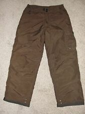 Looks New Boys White Sierra Snow Pants Sz L Brown Solid Ski Snow Pants