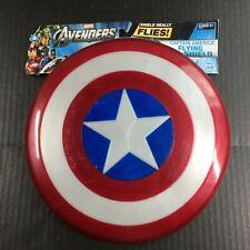 "Captain America Flying Shield Hasbro Avengers 10.5"" never used w/marks"