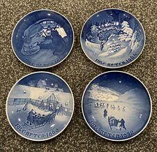 4 B&G Copenhagen Porcelain Blue & White Denmark Christmas Plates 63, 64, 69, 72