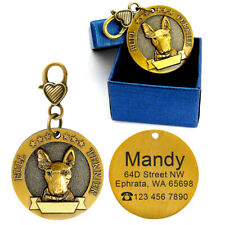 English Bull Terrier Breed 3D Brass Personalised Pet Dog Tags ID Collar Engraved