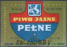 Poland Brewery Lublin Jasne Pełne Beer Label Bieretikett Etiqueta Cerveza lu40.2