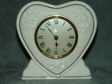 Lenox Rose Heart Anniversary Valentine's Day Mantle Clock