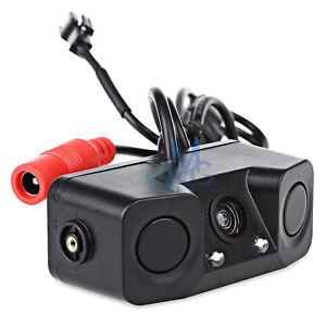 Retrocamera LED 170° con Due Sensori di Parcheggio per Auto Camper Camion