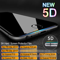 5D Curved Full Tempered Glass Film Screen Protector For Huawei P20 Pro Lite Mate