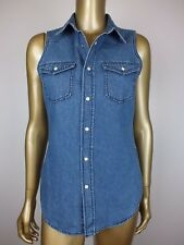 NEW BARDOT 'KARLIE' DENIM SHIRT DRESS BLOUSE TUNIC TOP - RRP $69.95 - 8