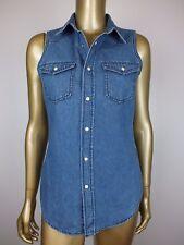 NEW BARDOT 'KARLIE' DENIM SHIRT DRESS BLOUSE TUNIC TOP - RRP $69.95 - 8