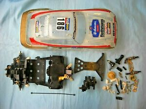 Lot of USED 80's Vintage 1/12 Tamiya Porsche 959 Parts with Body