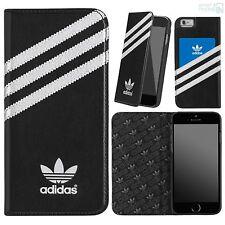 """Adidas premium book case iPhone 6, 6s 4,7"""" teléfono móvil, funda protectora, funda, protección bolsa Black"""