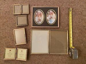 6 gilt picture frames various sizes