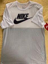 Nike Graphic Men's T-Shirt, White/Gray- Size Medium - Crew Neck - NWT