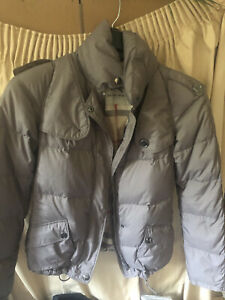 Original Burberry Womans Small Puffer Warm Feather Down Jacket