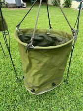 Us Army 36 Gallon Canvas Water Lister Bag Great Shape Does Not Leak