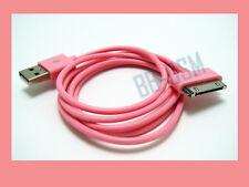 Apple iphone 4s 4 ipod USB Ladekabel Datenkabel PINK