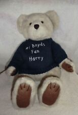 """New ListingBoyds Bear #1 Boyds Fan Harry with Sweater 16"""" tall"""