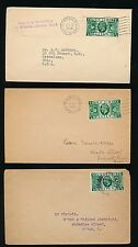 GB 1935 SILVER JUBILEE 1/2d FRANKINGS UNSEALED MAIL MAY JUNE JULY to GB + USA