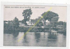 POSTCARD CANADA Ferme au bords de la rivière St Jean Edit WIALLARD