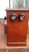 More details for antique brevete mahogany veneer stereo viewer stereoscope for restoration