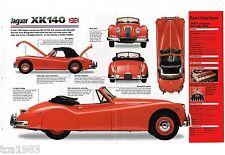 JAGUAR XK140/xk-140 SPEC Hoja/Catálogo/CATALOG : 1955 ,