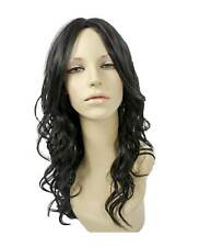Black Wonder Woman Kanekalon Long Curly Costume Wig Accessory Heat Safe
