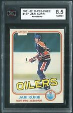 "1981-82 OPC JARI KURRI ""ROOKIE"" CARD #107-(KSA-8.5-""NM-MT+)-SUPER CLEAN CARD-PIC"