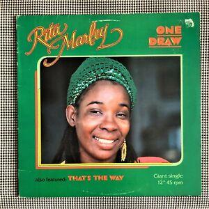 "Rita Marley – One Draw (1981) Very Good + 12"" Vinyl Single LP"