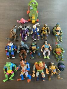 TMNT Lot Teenage Mutant Ninja Turtles Playmates Action Figures