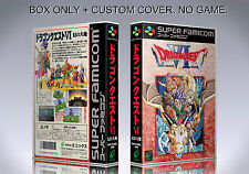 DRAGON QUEST 6. JAPAN VERSION. Box/Case. Super Nintendo. BOX + COVER. (NO GAME).