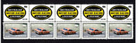 ALLAN MOFFAT MOTOR RACING LEGEND STRIP OF 10 MINT VIGNETTE STAMPS XW FALCON