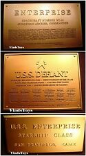 3x Eaglemoss Star Trek Dedication Plaque USS Enterprise NX-01, NCC-1701, Defiant